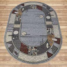 Ковер Лайла де Люкс 15704 10766, Овал 0.8x1.5 м