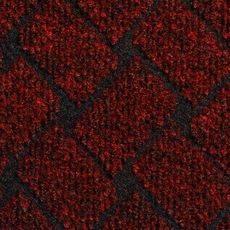 Ковролин Rhombus 40, 4 м, красный, 75% PP/25% PES