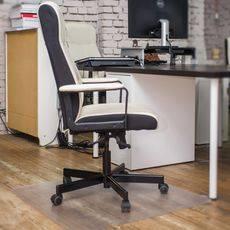 Защитный коврик под кресло 1.0x1.0, прозрачный, шагрень, поликарбонат, толщина 1,8 мм