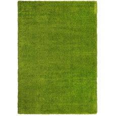 Ковер турецкий Super Shaggy Паффи GREEN зеленый. прямой 2.0х3.0
