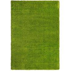 Ковер турецкий Super Shaggy Паффи GREEN зеленый. прямой 2.0х4.0