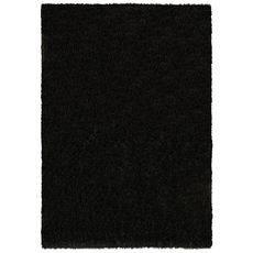 Ковер турецкий Super Shaggy Паффи BLACK черный. прямой 2.0х4.0