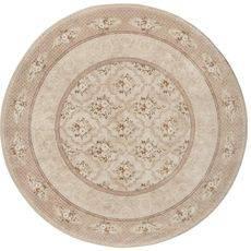 Ковер безворсовый на латексной основе Глория 112.4. круглый 1.9х1.9