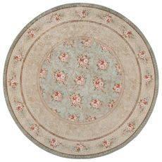 Ковер безворсовый на латексной основе Глория 112.5, круглый 2.4х2.4