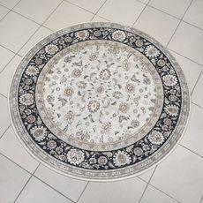 Ковер безворсовый на латексной основе Глория 112.3. круглый 1.9х1.9