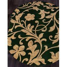 Купить ковер  MERINOS(Россия) LAGUNA d184 GREEN Овал 2.50x3.50