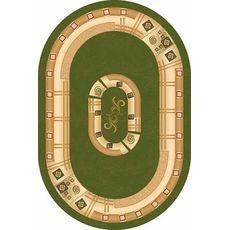 Купить ковер  MERINOS(Россия) DA VINCI 5263 GREEN Овал 3.00x4.00