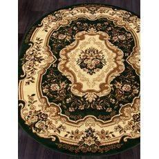 Купить ковер  MERINOS(Россия) LAGUNA d017 GREEN Овал 2.50x3.50