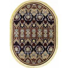 Купить ковер  MERINOS(Россия) BUHARA D435 RED Овал 2.00x4.00