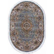 Купить ковер  MERINOS(Россия) SHAHREZA d414 BLUE Овал 2.40x5.00