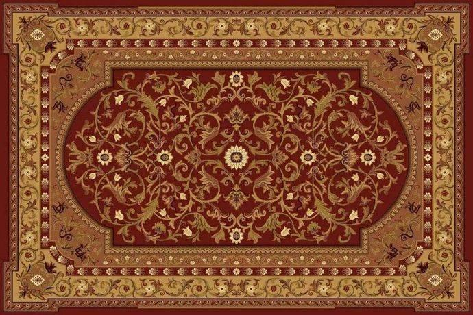 Шерстяной ковер 265 Ermitaj 03658 0.6x1.1 м, 100% шерсть, Флоаре-Карпет, Молдова